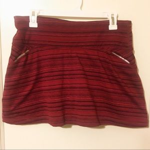 ATHLETA Red Sport Mid Rise Skort Sz Medium